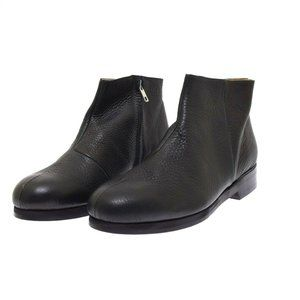 Damir Doma Dark Blue Leather Bootie Ankle Boots